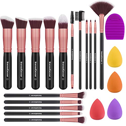 InnoGear Makeup Pinsel Set, Professional 16 Stücke Makeup Pinsels Augenpinsel Lippenpinsel...