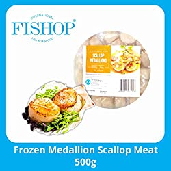 Fishop Frozen Medallion Scallop Meat, 500g