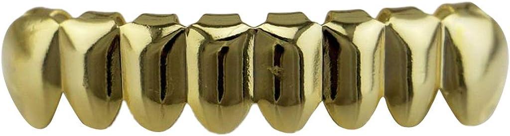 menolana Custom Hip Hop Punk Teeth Caps 8 Top/Bottom Grills Set Body Jewellery Gift