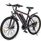 ZWJABYY Bicicleta EléCtrica,Nueva Bicicleta EléCtrica para Adultos De 2021, Bicicleta De MontañA EléCtrica De 26 Pulgadas,con BateríA ExtraíBle De Aulitio De 36V/10Ah,Motor De 350W,Black