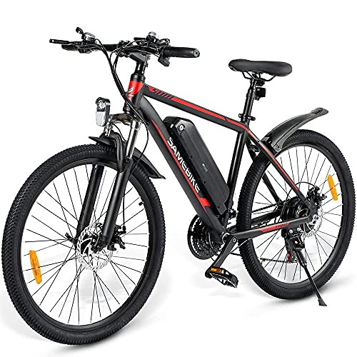 ZWJABYY Elektrofahrrad,26 Zoll Urban Citybike,Mountainbike Elektrofahrrad Alu,mit 36V10Ah Abnehmbare Lithium Akku,350W Motor,Shimano 21-Gang-Getriebe,Mountainbike Elektrofahrrad,Black