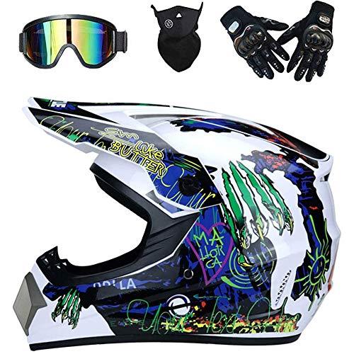 AKBOY Motos Motocross Casco Motocross Niño Cascos Infantil Enduro para Mujer Hombre...