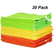 WORKPRO Microfiber Cleaning Cloth, Polishing and Dusting Cloth, Absorbent Drying Towel, Extra Large 40 x 36 cm, 30-Pack