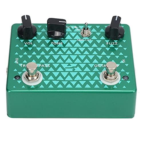 Pédale de distorsion, pédales de guitare portables réglables accessoire d'instrument multi-effets pour guitare et basse