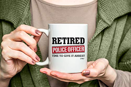 Product Image 5: Retired Police Officer Gifts Mug Funny Christmas Retiring Retirement Gag Gifts for Women Men Dad Mom Retirement Coffee Mug Gift. Retired Mugs for Coworkers Office & Family. Unique Ideas for Her & Him