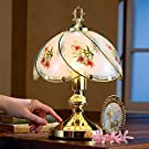 Collections Etc Hummingbird Desk Tabletop Touch Lamp with Gold Base and Accents, 3 Light Settings #1