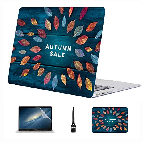 4 in 1 Laptop Case for MacBook 13 inch New Pro USB-C 2020 A2289/A2251 Case,Plastic Hard Shell Case Cover and Mouse Pad & Screen Protector,Autum Sale Discount Banner Flyer Design
