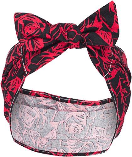 Küstenluder Evy Vintage Rosen Floral Haarband Hairband Rockabilly