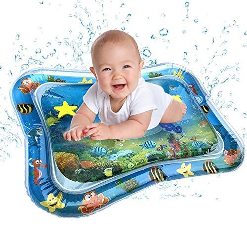 Colchoneta inflable de agua para bebé divertido centro de juego para niños y bebés PVC para el día de San Patricio en azul
