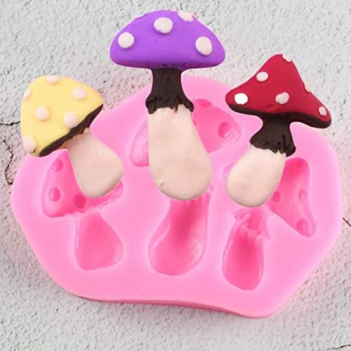 QMGLBG 1 Pieza de Molde de Pastel con Forma de Hongo, Molde de Pastel de Fondant, Molde de Silicona de Grado alimenticio 3D, Herramientas para Hornear DIY, Molde de Encaje de azúcar, Chocolate