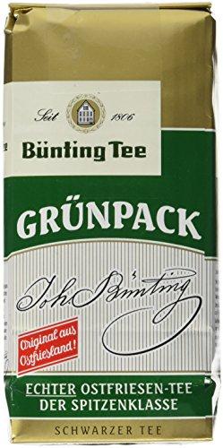 Bünting Tee Grünpack Echter Ostfriesentee Lose, 7er Pack (7 x 250 g)