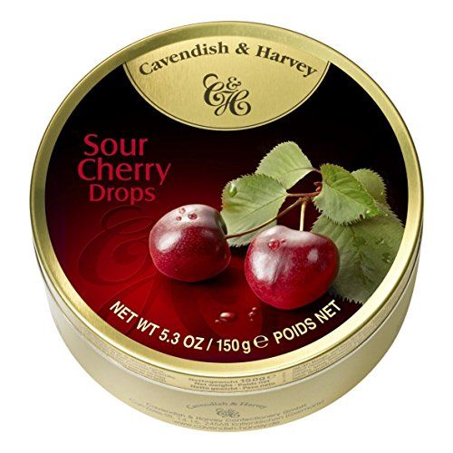 Cavendish And Harvey Candy (3 Pack) Fruit Hard Candy Tin 5.3 Ounces Imported German Candy (Sour Cherry Drops)