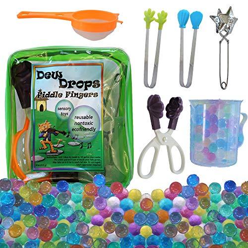 SENSORY4U Water Beads with Fine Motor Sensory Toys Set, Water Bead Sensory Bin Kit, Kids Learning Educational Toys