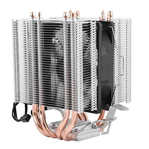 Enfriador de un solo ventilador, 4 tubos de enfriamiento, disipador de calor del enfriador del ventilador de la CPU, para Intel LGA AMD 1366 1155775, alta eficiencia y bajo consumo de energía.