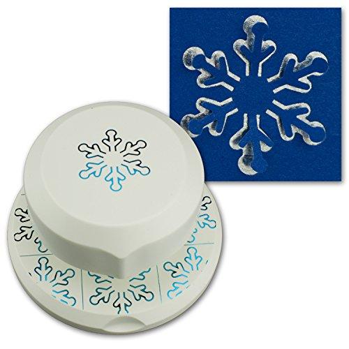 Artoz Vliegende stans, 3D pop-up, sneeuwvlokken, pop-up, vrij positioneerbare gat voor het maken van kaarten en knutselen, kerstmis, advent, uitnodigingen, wenskaarten