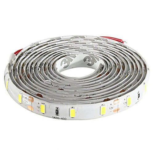 120-5630 SMD LED Strip - TOOGOO(R)2M Ruban LED etanche 120-5630 SMD Bande Strip Guirlande Lumineux Decoration Voiture/Velo DC 12V (Blanc)