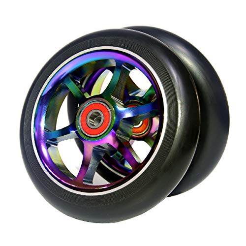 Z-FIRST 2pcs Replacement 120mm Pro Scooter Wheel with ABEC 9 Bearings Fit for MGP/Razor/Lucky Pro Scooters (T-Blue)