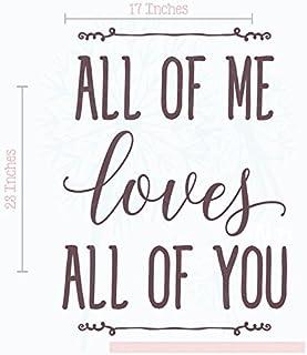 ملصقات جدارية مطبوع عليها All of Me Loves You من الفينيل تحمل عبارات حب 23x17 WDPM4168 1