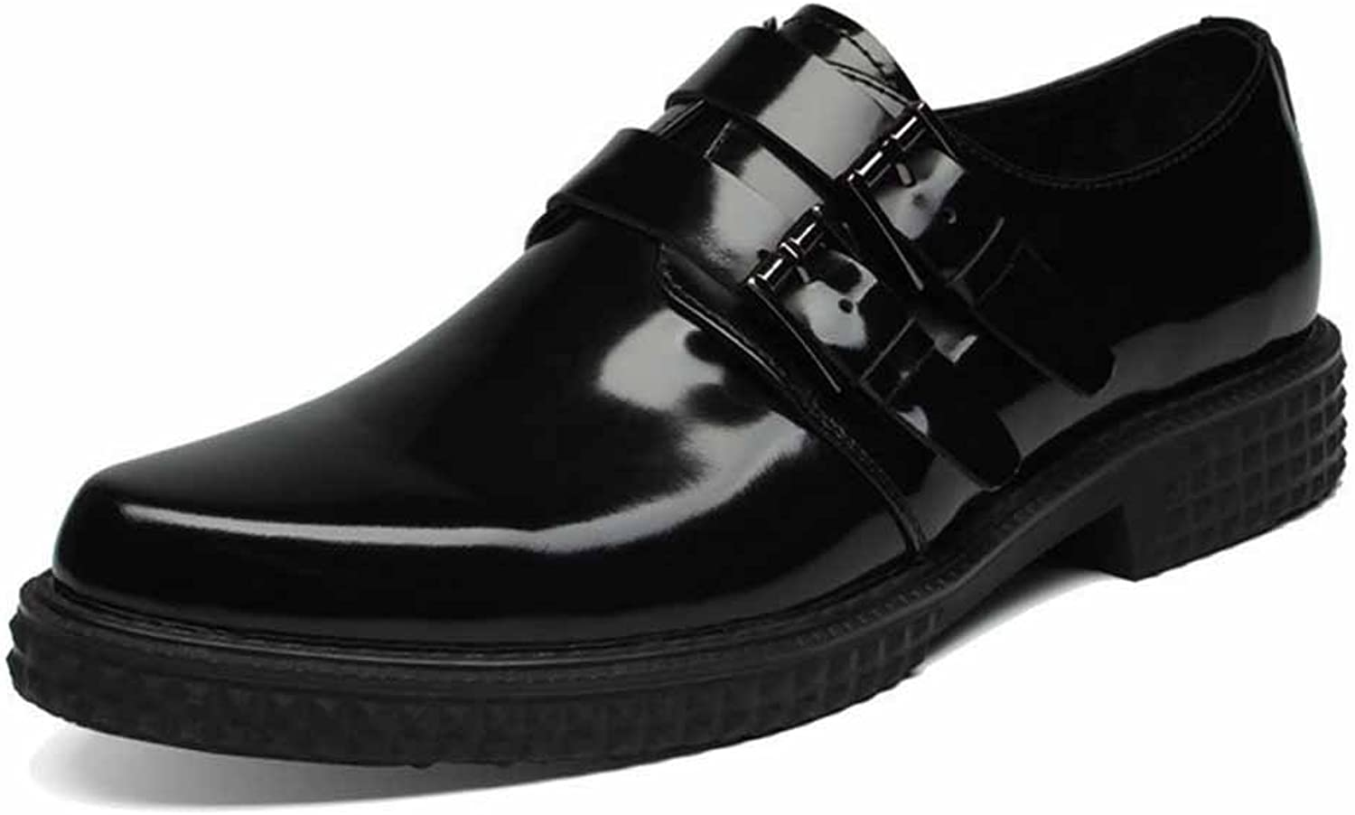 Men Patent Leather Business Dress shoes New Buckle Oxford Breathable Low Top Casual shoes
