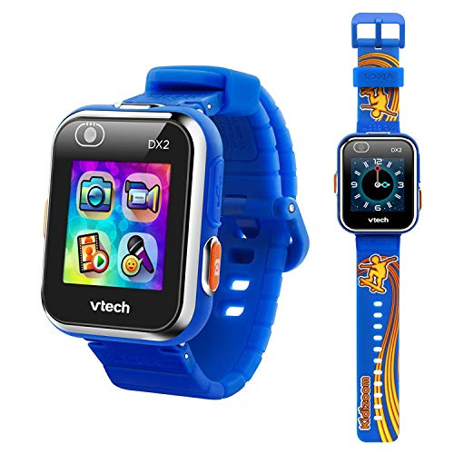 VTech KidiZoom Smartwatch DX2, Special Edition Skateboard Swoosh with Bonus Royal Blue Wristband