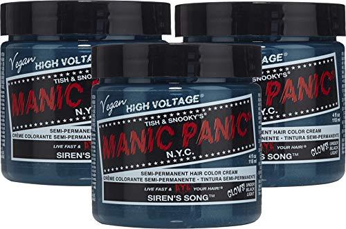 Manic Panic - Tinte Semipermanente para el Pelo, Siren's Song (Verde Turquesa) 118 ml