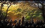 warmwfw 1000 Piezas de Rompecabezas de Madera para Adultos y amp;Niños, El señor de los Anillos La Batalla por la Tierra Media II Rompecabezas Juguetes Juego Educativo DIY (75 * 50cm)