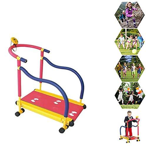 Tragbares Manuelles Laufband für Kinder - Nicht Motorisierte Laufmaschine für Kinder von 3 Bis 8 Jahren
