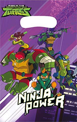 Amscan International Teenage Mutant Ninja Turtles Amscan 372209 Party Childs Card Maskers 8 Pack De opkomst van TMNT, Kleur