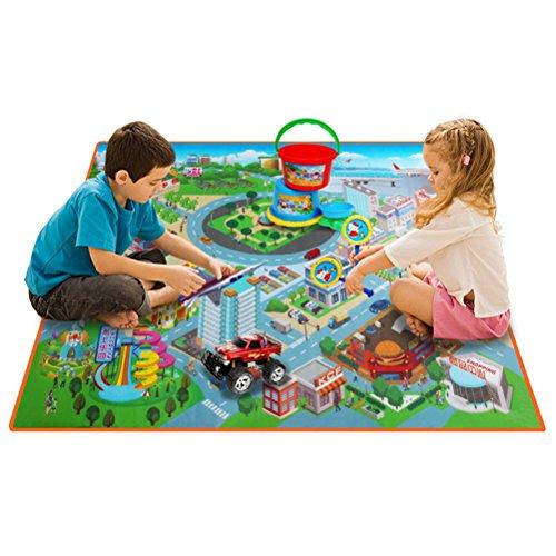 TOYMYTOY Tapis de jeu pour enfants Tapis de scène pour enfants Scène de circulation pour véhicules éducatifs