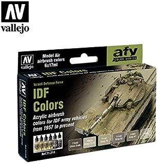71210 Model Air IDF Colours, Israeli Defence Force 6 Colour Acrylic Paint Set