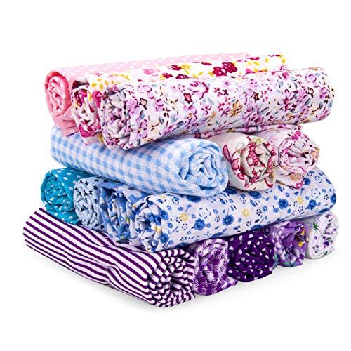 Adkwse Baumwollstoff Patchwork Stoffe (50 * 50cm), 15 PCS Stoffstücke 100% Baumwolle Dünner Stoff Zum Nähen für Alle Arten von Kleinen Handgemachten.