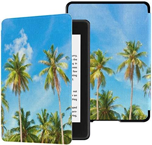 Funda de Tela Kindle Paperwhite Resistente al Agua (10a generación, versión 2018), Funda para Tableta Palm Trees Coconut Under Blue Sky