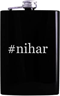 #nihar - 8oz Hashtag Hip Alcohol Drinking Flask, Black