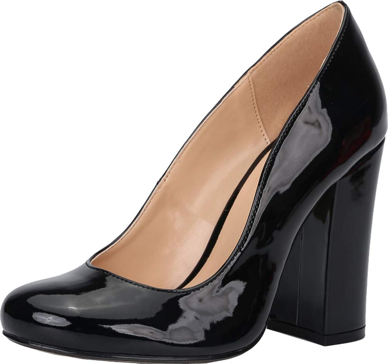 Womens Nightclub Party Cross Dressing Chunky Heel Plus Size Peep Toe Pump ZY-16