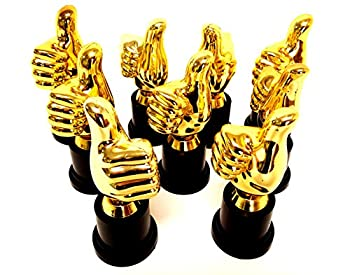 Playscene Thumbs Up Plastic Gold Trophies  12