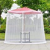 Maliyaw Mosquitera a Prueba de Insectos mosquitera de Red para Patio sombrilla de jardín Muebles de Tumbona Cubierta con Cremallera Plegable de Red