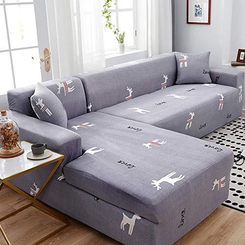 cubierta antideslizante en tejido elástico extensible 2 plazas, funda de sofá funda de sofá elástica silla seccional, fundas de sillón de toalla L para sofá de esquina Protect I 145-185cm