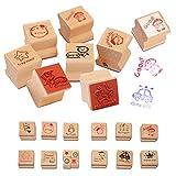 EQLEF 15 PCS madera de la historieta de bricolaje Comentarios sello profesor fomentan un sello