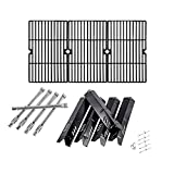 SafBbcue Grill Parts Kit Replacement for Dynaglo DGF510SBP DGF510SSP; Backyard BY13-101-001-13, BY14-101-001-04, Cooking Grates/Heat Plates/Burners/Electrode Ignitor
