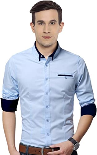 Cotton Casual Shirts for Men Regular Fit Full Sleeve Ideal for Regular Wear Office Smart Casuals