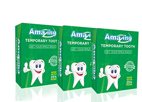 Amazing Temporary Tooth Kit 3 Pack Replacement Temp Dental 25% More Than Others