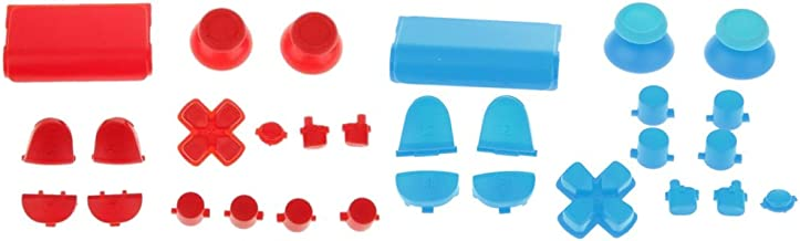 MagiDeal 2 Set L2 R2 L1 R1 Grip Cap Buttons Mod For Sony PS4 Game Console Controller Blue+Red