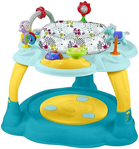 Babymix Activity Center Blue/Yellow Speeltafel Met Trampoline