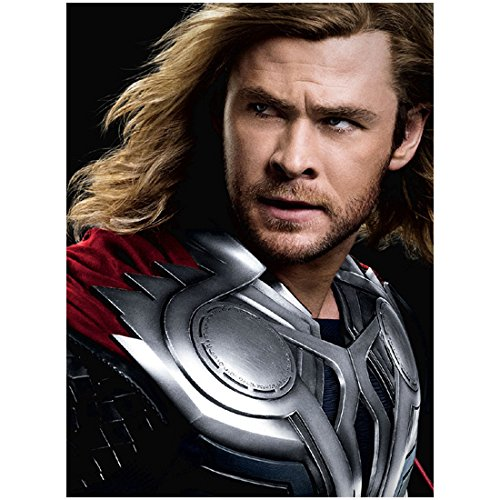 Chris Hemsworth 8x10 Photo Thor/Avengers Thor Wind Blown Headshot in Armor kn