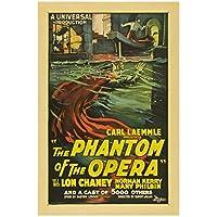 Dubdubd オペラの怪人(1925)クラシックムービーアートポスターキャンバス絵画写真リビングルーム室内装飾ギフト-50X75Cmフレームなし1個