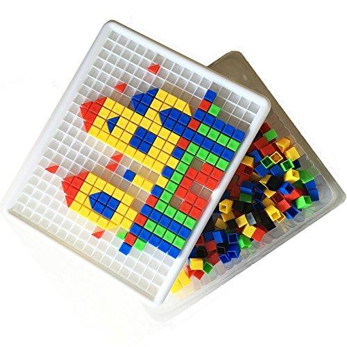 Itian Bloc jouets Mosaique Loisir Creatif Jeu de Construction Ensemble de 420 Pièces pour Enfants