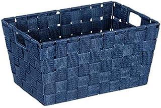 WENKO DIE BESSERE IDEE PanierSalledeBainAdriaS 30x20x15 cm,Bleu foncé