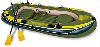 BZLLW Kayak Inflable, 4-Persona Kayak Inflable, for el envío de paletas y Bomba de Aire Manual de PVC Barco Inflable, Cuatro Personas Espesado Inflable del Barco de Pesca, de Agua Entretenimiento