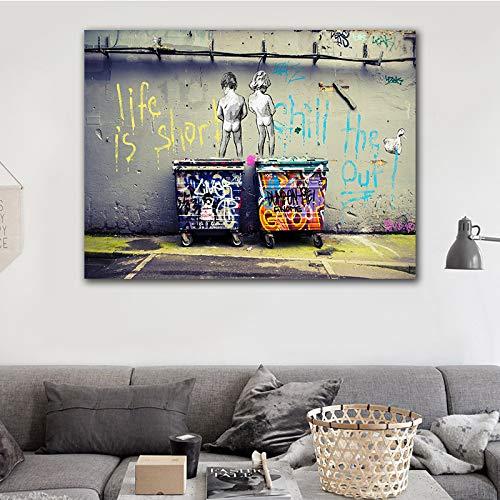 sakkdaull s Kids Sweet Kiss Stion Liebhaber und Freunde teilen den Spaß der Malerei 16x20 Zoll DIY Malen mit Zahlen