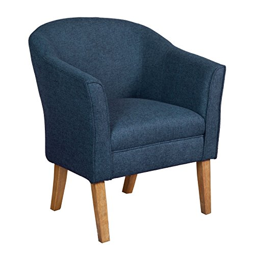 HomePop Chunky Textured Accent Chair, Blue